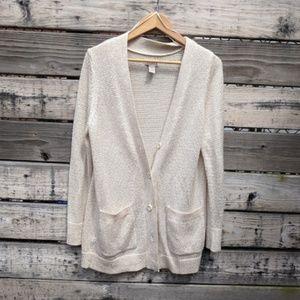 Mudd Cream Long Cardigan Size XL